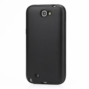 Silicone and Aluminum Hybrid Case for Samsung Galaxy Note 2 / II N7100 - Black
