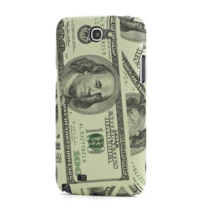 US Dollar Leather Coated Hard Case for Samsung Galaxy Note 2 / II N7100 - Yellow