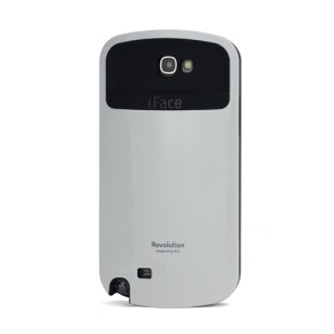 iFace Revolution TPU & Plastic Hybrid Case for Samsung Galaxy Note 2 / II N7100 - Black / White