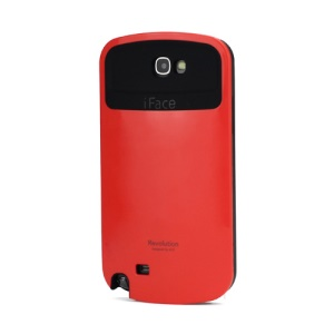 iFace Revolution TPU & Plastic Hybrid Case for Samsung Galaxy Note 2 / II N7100 - Black / Red