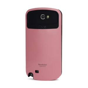 iFace Revolution TPU & Plastic Hybrid Case for Samsung Galaxy Note 2 / II N7100 - Black / Pink