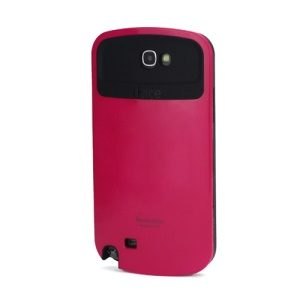 iFace Revolution TPU & Plastic Hybrid Case for Samsung Galaxy Note 2 / II N7100 - Black / Rose
