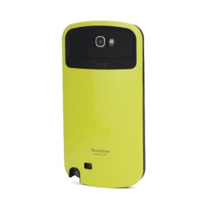 iFace Revolution TPU & Plastic Hybrid Case for Samsung Galaxy Note 2 / II N7100 - Black / Yellow