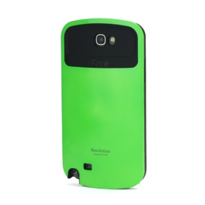iFace Revolution TPU & Plastic Hybrid Case for Samsung Galaxy Note 2 / II N7100 - Black / Green