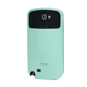 iFace Revolution TPU & Plastic Hybrid Case for Samsung Galaxy Note 2 / II N7100 - Black / Cyan