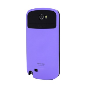 iFace Revolution TPU & Plastic Hybrid Case for Samsung Galaxy Note 2 / II N7100 - Black / Purple