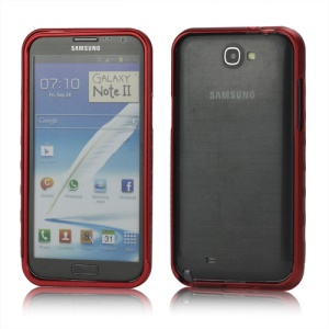 Sliding Hybrid Aluminum Bumper Frame Case for Samsung Galaxy Note II N7100 - Red