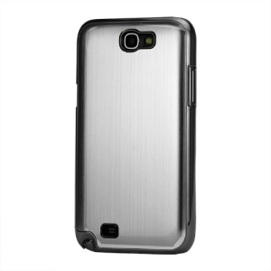Brushed Aluminum Chrome Hard Back Base for Samsung Galaxy Note 2 / II N7100 - Silver