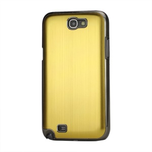 Brushed Aluminum Chrome Hard Back Base for Samsung Galaxy Note 2 / II N7100 - Gold