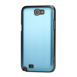Brushed Aluminum Chrome Hard Back Base for Samsung Galaxy Note 2 / II N7100 - Light Blue