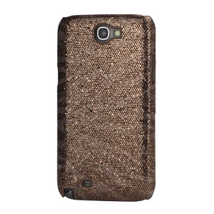 Bling Flashing Sequins Zebra Stripe Hard Case for Samsung Galaxy Note 2 / II N7100 - Coffee