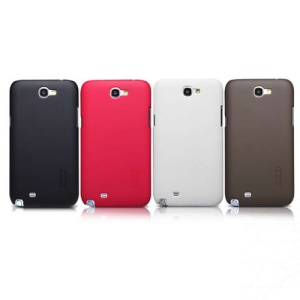 Nillkin Super Forsted Shield Hard Protective Cover for Samsung Galaxy Note II N7100 with LCD Film;Red
