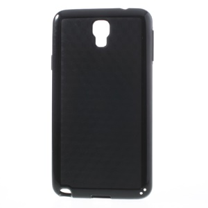3D Cube PC & TPU Case for Samsung Galaxy Note 3 Neo N750 N7502 N7505 - Black