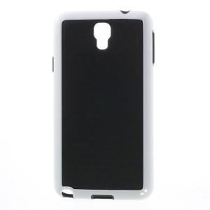 3D Cube PC & TPU Case for Samsung Galaxy Note 3 Neo N750 N7502 N7505 - Black / White