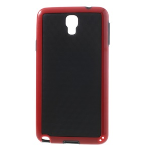 3D Cube Hybrid PC & TPU Case for Samsung Galaxy Note 3 Neo N750 N7502 - Black / Red