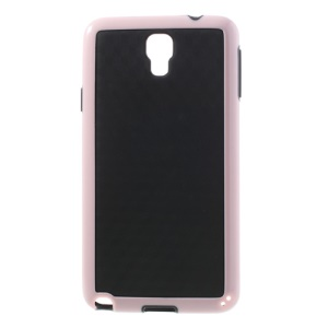 3D Cube Hybrid PC & TPU Case for Samsung Galaxy Note 3 Neo N750 N7502 - Black / Pink