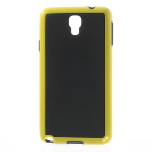 3D Cube Hybrid PC & TPU Cover for Samsung Galaxy Note 3 Neo N750 N7502 - Black / Yellow