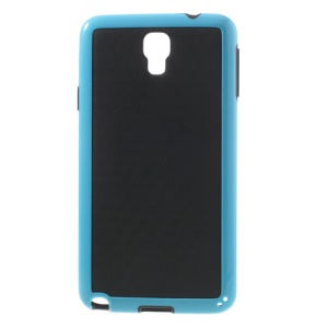 3D Cube Hybrid PC & TPU Cover for Samsung Galaxy Note 3 Neo N750 N7502 - Black / Blue