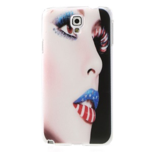 Modern Girl Make-up Face Embossed Hard Case for Samsung Galaxy Note 3 Neo N750 N7502
