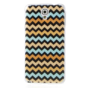 Embossed Colored Chevron Pattern Hard Case for Samsung Galaxy Note 3 Neo N750 N7502