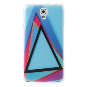 Triangles Blue Background Embossed Hard Cover for Samsung Galaxy Note 3 Neo N750