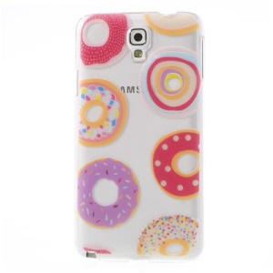 For Samsung Galaxy Note 3 Neo N750 N7502 Lovely Donuts Embossed Hard PC Cover