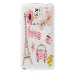 For Samsung Galaxy Note 3 Neo N750 N7502 Cartoon Eiffel Tower Mini Car Embossed Hard Back Shell