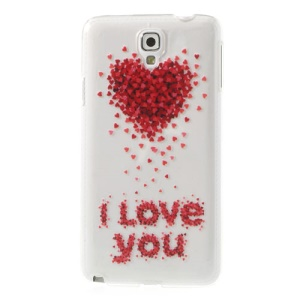 For Samsung Galaxy Note 3 Neo N750 N7505 I Love You Heart Embossed Hard Back Case