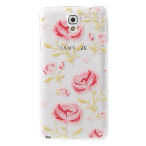 For Samsung Galaxy Note 3 Neo N750 N7505 Embossed Beautiful Blossoms Plastic Case
