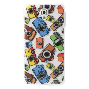 For Samsung Galaxy Note 3 Neo N750 N7505 Plastic Back Cover Relief Cute Cameras Pattern