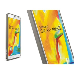 LOVE MEI Slim Aluminum Metal Bumper Frame for Samsung Galaxy Note 3 Neo N7505 - Light Gray