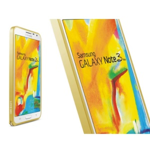 LOVE MEI Slim Aluminum Metal Backless Bumper Frame for Samsung Galaxy Note 3 Neo N7505 - Yellow