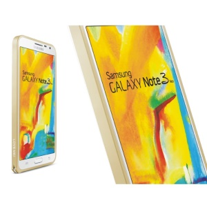 LOVE MEI Slim Aluminum Metal Backless Bumper Frame for Samsung Galaxy Note 3 Neo N7505 - Champagne