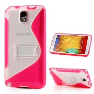 Rose for Samsung Galaxy Note 3 N9005 S Curve TPU & PC Stand Cover