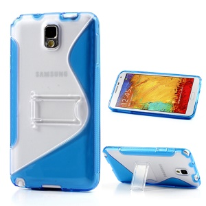 Blue for Samsung Galaxy Note 3 N9005 S Curve TPU & PC Stand Cover