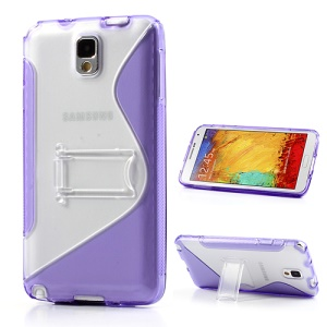 Purple for Samsung Galaxy Note 3 N9002 S Curve TPU & PC Stand Cover