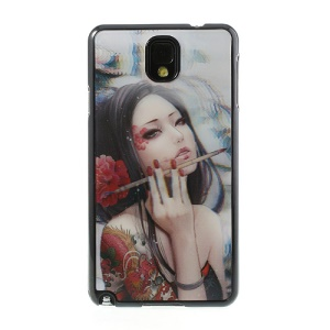 3D Effect A Making-up Beauty Hard Case for Samsung Galaxy Note 3 N9005 N9000