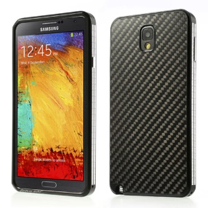 Black Surplus Wind Aluminum & Carbon Fiber Screwless Hard Case for Samsung Galaxy Note 3 N9000
