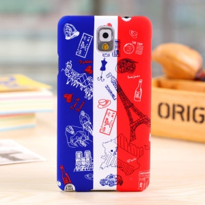 Umku for Samsung Galaxy Note 3 N9005 French Elements & France Flag Hard Cover