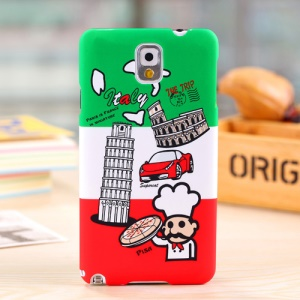 Umku for Samsung Galaxy Note 3 N9000 Italy Leaning Tower & Pizza Hard Back Case