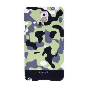 Black Umku Camouflage Series for Samsung Galaxy Note 3 N9005 Plastic Case