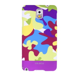 Light Purple Umku Camouflage Series for Samsung Galaxy Note 3 N9002 Plastic Cover