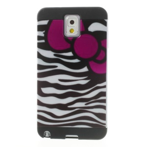 Bowknot Black & White Zebra Image PC + TPU Hybrid Shell for Samsung Galaxy Note 3 N9005 N9000