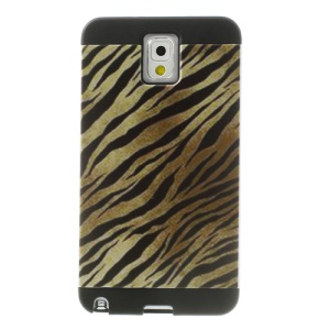 Black & Brown Zebra Image PC + TPU Hybrid Case for Samsung Galaxy Note 3 N9005 N9002 w/ Inner Card Slot
