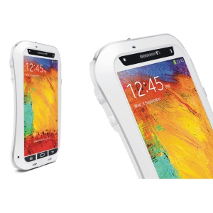LOVE MEI for Samsung Galaxy Note 3 N9005 Powerful Small Waist Metal Gorilla Glass Waterproof Case - White