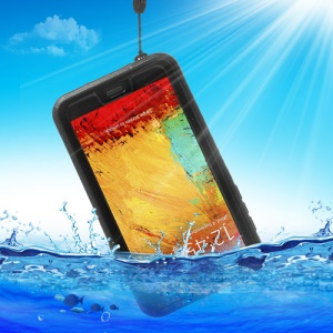 Waterproof Shockproof Dirt Snow Proof Case for Samsung Galaxy Note 3 N9000 N9002 N9005 - Black