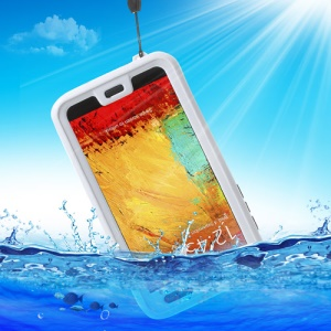 Waterproof Shockproof Dirt Snow Proof Cover for Samsung Galaxy Note 3 N9000 N9002 - White