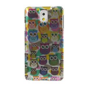 3D Effect Multiple Colored Owls for Samsung Galaxy Note 3 N9005 Smooth Plastic Case