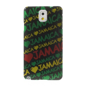 Stereoscopic Effect JAMAICA & Hearts for Samsung Galaxy Note 3 N9002 Smooth Hard Shell