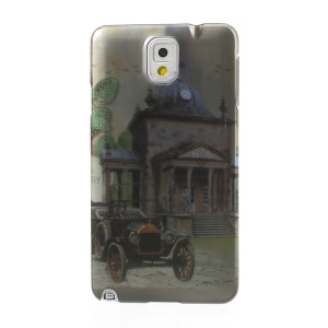 For Samsung Galaxy Note 3 N9000 Stereoscopic Effect Retro Car & Building Plastic Shell
